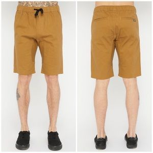 West 49   Solid Twill Jogger Shorts- Tan